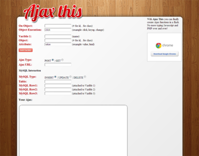 Simple AJAX Generator AjaxThis.com