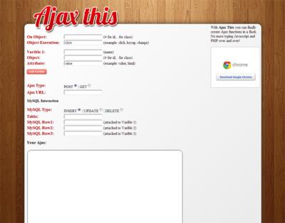 Simple AJAX Generator AjaxThis.com